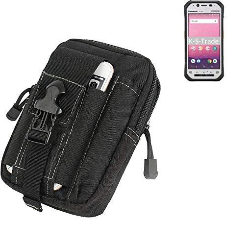 K-S-Trade® Gürtel Tasche Für Panasonic Toughbook FZ-N1 Gürteltasche Holster Schutzhülle Handy Hülle Smartphone Outdoor Handyhülle Schwarz Zusatzfächer