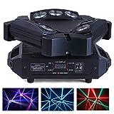 HSL Moving Head DJ lights Beam Light RGB DJ Stage Light DMX512 Sound Activated Disco Party Pub Wedding Christmas Stage Lighting DJ Equipment