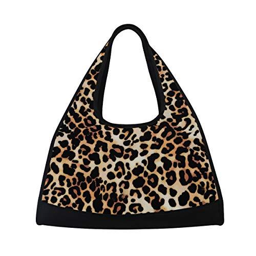 KIMDFACE Sporttasche,Leopardenmuster Jaguar Tierfell,Neue Druck Verschiedene Muster Sport reisetaschen sporttaschen Kurze Reise Rucksack umhängetaschen