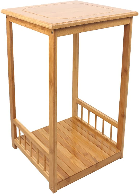 LXLA- Floor-Standing Kitchen Shelf Induction Cooker Shelves Rice Cooker Frame Water Dispenser Rack 2,3-Tier Wood 63.2 73.2×36×36cm (Size   2 Layers)