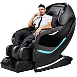 Massage Chair, Zero Gravity Full Body Massage Chairs Recliner with SL Double Track, 3D Robot Hands, Air Massage, Bluetooth Speaker&Yoga Stretching (Black)