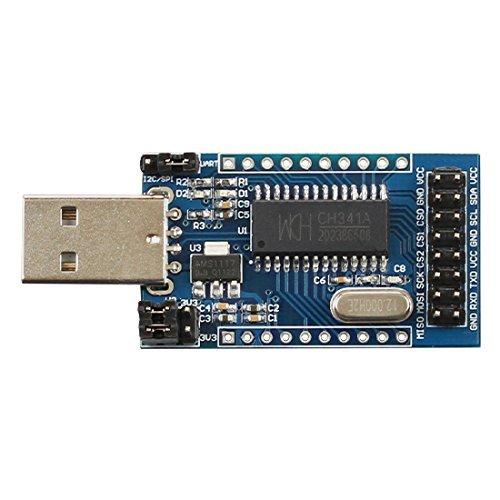 DollaTek CH341A Adaptador USB a UART/IIC/SPI/TTL/ISP Adaptador EPP/MEM Paralelo