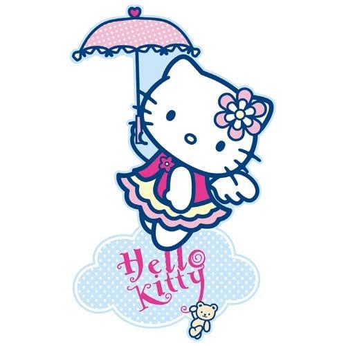 Sanrio - MAXI Décoration Adhésive en relief Hello Kitty - Collection Angel