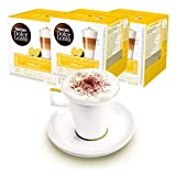 Nescafé Dolce Gusto Lot de 3 Gobelets à Latte Macchiato Vanilla Café Capsules