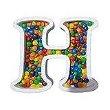 DecoPorex Letra H para Caramelos de 20Cm de Altura y 2Cm de Profundidad en poliestireno