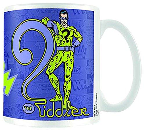 empireposter - DC Comics - Batman Riddler - Größe (cm), ca. Ø8,5 H9,5 - Lizenz Tassen, NEU - Beschreibung: - Keramik Tasse, weiß, bedruckt, Fassungsvermögen 320 ml, offiziell lizenziert, spülmaschinen- und mikrowellenfest -