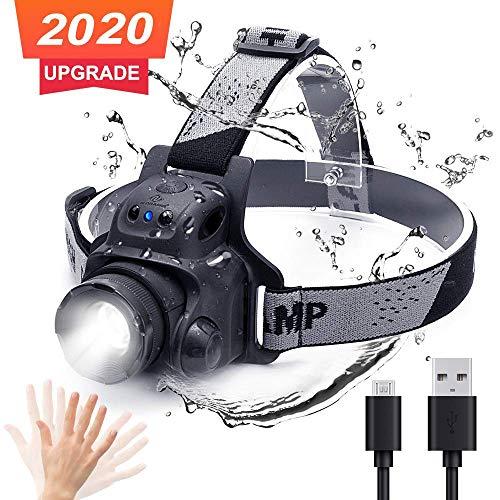 N N.ORANIE Linterna Frontal LED Impermeable USB Recargable
