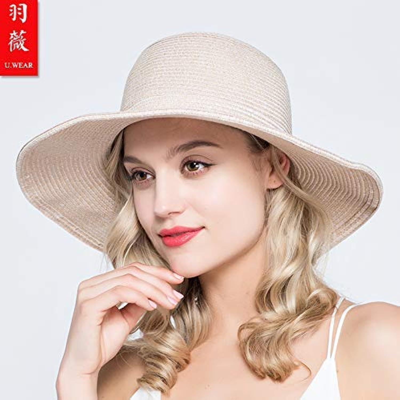 Chuiqingnet Sun predection UV predection straw hat spring and summer cool hat ladies visor sun hat travel cap folding