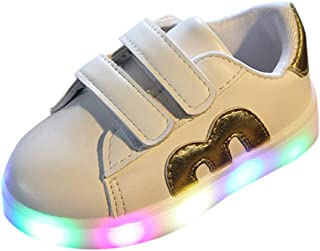 Kids Sneakers,MS-SM Toddler Infant Baby Girls Boys Mesh Breathable LED Luminous Outdoor Sport Shoes for 1.5-6 Years Old