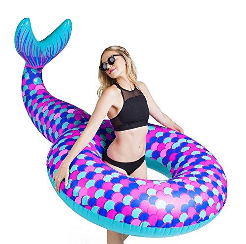 BigMouth Inc – Flotador Hinchable Cola de Sirena Gigante – Inflable...