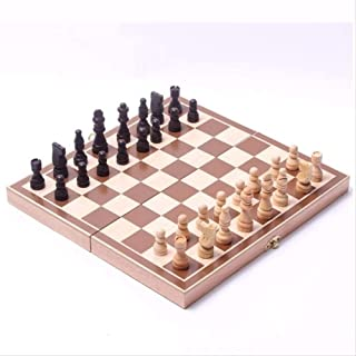 Chess Set,Folding Wooden International Chess Set Pieces Set Board Game Funny Game Chessmen Collection Portable Board Game ...