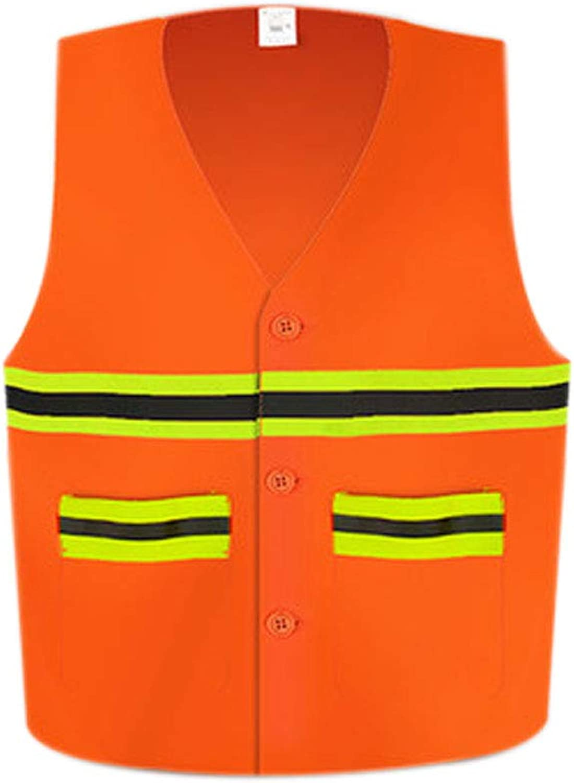 GSHWJS Sanitation Worker Reflective Vest, High Visibility Night Building Clean Reflective Vest Reflective Vests (color   1 Pack)