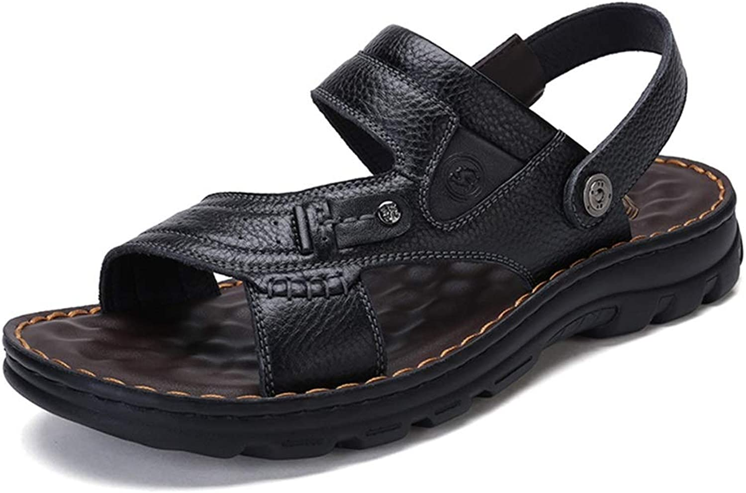 Sport Sandals Sandals Summer Beach Roman shoes Fishing Outdoor Breathable Casual shoes Walking Camping Men's Slippers Non-Slip Sports Sandals (color   Black, Size   8.5UK 10.5US)