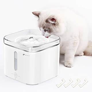 PETKIT EVERSWEET Cat Water Fountain, 68oz/2L Automatic Pet Water Fountain, Quiet Auto Power-Off Drinking Water Fountain for Cats Dogs with 4 Foam Filters, Smart Mode LED Light, Reddot Design Winner