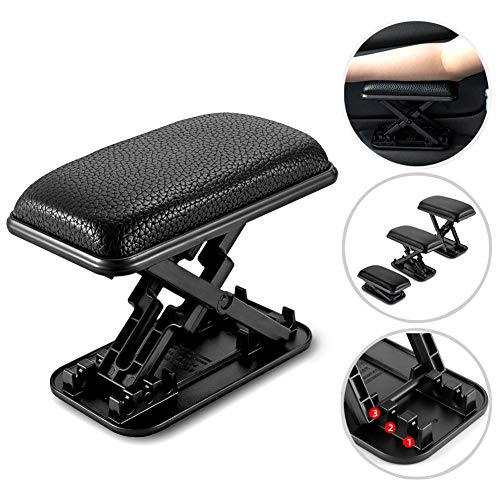 LILER Car Elbow Cushion, Car Door Rest Pillow, Automotive Elbow Cushion,Car Hand Elbow Comfort Rest Pads, Adjustable Height (Black)