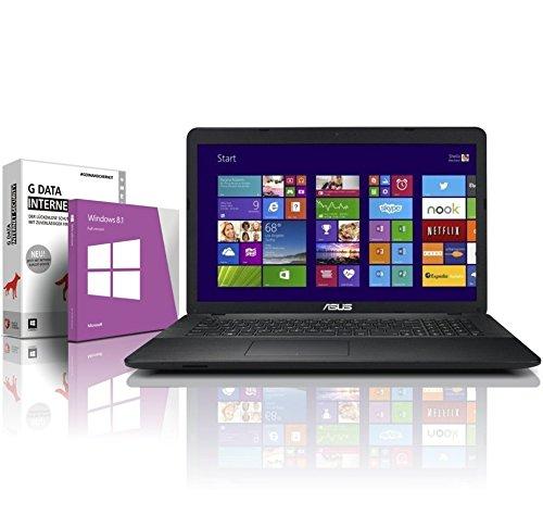 ASUS F751M (17,3 Zoll) Notebook (Intel N2940 Quad Core 4x2.25 GHz, 8GB RAM, 750GB S-ATA HDD, Intel HD Graphic, HDMI, Webcam, USB 3.0, WLAN, DVD-Brenner, Windows 7 Professional 64 Bit) #4841