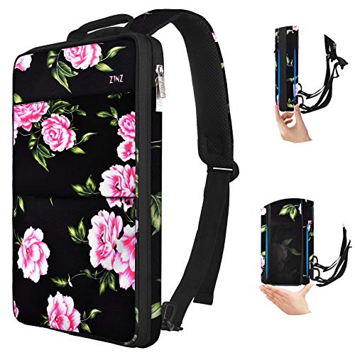 ZINZ Slim & Expandable Laptop Backpack 15 15.6 16 Inch Sleeve, Spill-Resistant Notebooks Bag Case for Most 14-16 Inch MacBooks Surface-Books Dell HP Lenovo Asus Computers, Peony