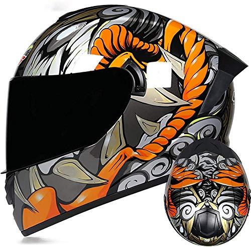 VERDELZ Casco de motocross modular para hombre y mujer, ECE/DOT con doble visera antivaho para motocicleta y ciclomotor para carreras de calle casco de crash
