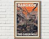 Poster Bangkok Vintage Titled The Green Mile – Retro