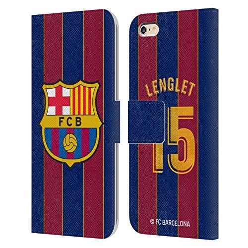 Head Case Designs Licenciado Oficialmente FC Barcelona Clément Lenglet 2020/21 Players Home Kit Group 1 Carcasa de Cuero Tipo Libro Compatible con Apple iPhone 6 Plus/iPhone 6s Plus