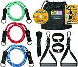 GoFit Ultimate ProGym - Portable Home Workout Equipment Includes Resistance Tubes, Handles, Door Anchors, Ankle Straps