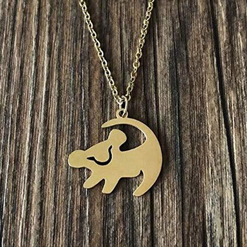 LBBYMX Co.,ltd Collar Dulce Color león Rey Colgante Collar Mejor Regalo de cumpleaños Mujeres Collar de joyería