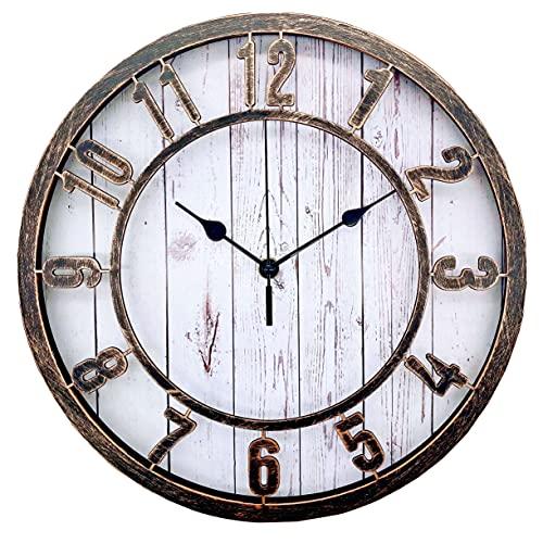 Ouyun Farmhouse/Vintage Wall Clock, Retro Style