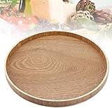 Hölzerner Platten-Bambusrunder Serviertablett für Tee-Set-Abendessen-Frühstück trägt Süßigkeits-Lebensmittel Früchte(33cm)