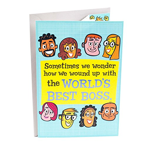 Hallmark Funny Boss's Day Card from All (Card for Boss from World's Best Employees)