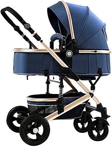 Cochecitos de bebé con ventiladores de cochecitos, cochecito de silla de silla de cama para niños pequeños, cochecitos y cochecitos para bebés, niños y niñas, cochecito de viaje con tapa de lluvia.