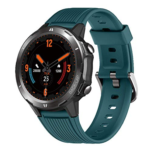 Smart Watch, with Heart Rate Monitor Fitness Tracker, 1.3' Touch Screen with Sleep Monitor, Smartwatch for Android and iOS Phones, 5ATM Waterproof Activity Tracker Pedometer for Women and Men