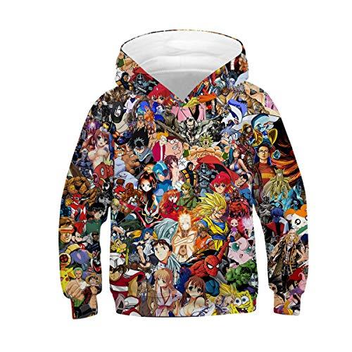 NEWCOSPLAY Unisex Kids Hooded Realistic 3D Galaxy Digital Print Sweatshirt Baseball Jersey for Boys Girls (11-12 Years, 015)