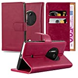 Cadorabo Book Case Compatible with Nokia Lumia 1020 in Wine RED - with Magnetic Closure, Stand Function and Card Slot - Wallet Etui Cover Pouch PU Leather Flip