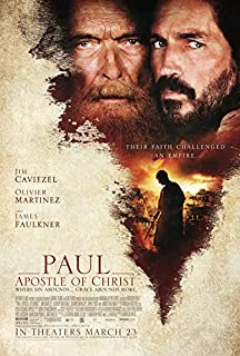 PAUL, APOSTLE OF CHRIST (2018) Original Authentic Movie Poster 27x40 - Double - Sided - Jim Caviezel - James Faulkner - Olivier Martinez - Joanne Whalley