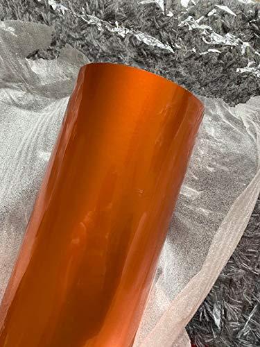 Vinilo Coche Naranja 150 Cm X 40 Cm Profesional- Vinil Autoadhesivo Para Coche Exterior…