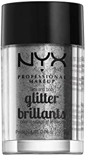 NYX PROFESSIONAL MAKEUP Face & Body Glitter, Silver