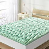 Best Price Mattress Short Queen Mattress Topper - 1.5 Inch 5-Zone Memory Foam Bed Topper Aloe Infused Cooling Mattress Pad RV Pad, Short Queen Size