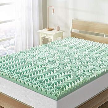 Best Price Mattress 1.5 Inch 5-Zone Memory Foam Mattress Topper Calming Aloe Vera Infusion CertiPUR-US Certified Full