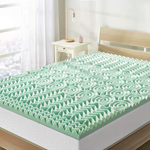 Best Price Mattress Full Mattress Topper - 1.5 Inch 5-Zone Memory Foam Bed Topper Aloe Infused Cooling Mattress Pad, Full Size
