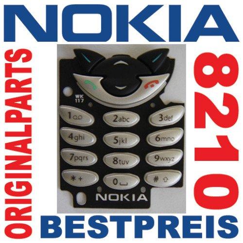 ORIGINAL NEU NOKIA 8210 Tastatur / Tastenmatte / Keypad - Silber