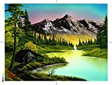 Bob Ross Mountain Retreat Nature Puzzle for Adults and Kids   Forest Lake 1000 Piece Jigsaw Puzzle Toy   Interactive Brain Teaser for Family Game Night   28 x 20 Inches