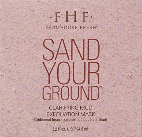 FarmHouse Fresh Sand Your Ground Clarifying Mud Exfoliation Mask, 3.2 Fl Oz