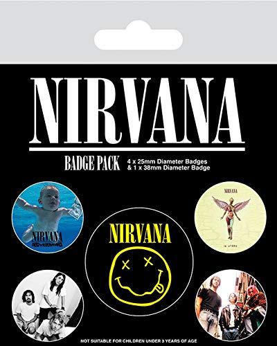 "Nirvana ""Iconic"" ,Abzeichen Packung ,10 x 12.5 cm"