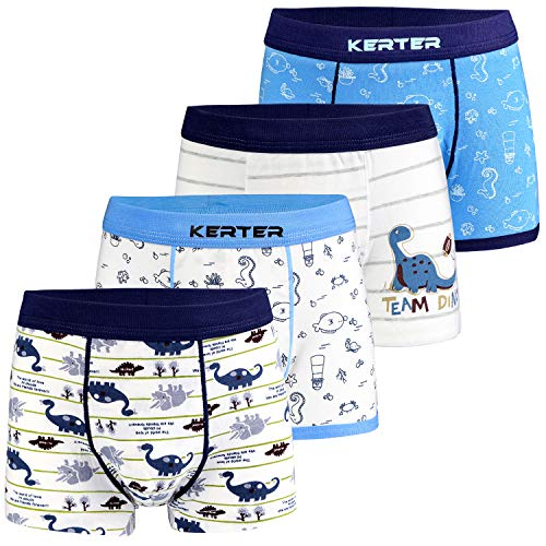 Auranso Boys Underwear Toddler Boxer Briefs Shorts 4 Pack Cotton Dinosaur...