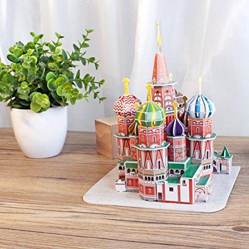 CubicFun Puzzle 3D Russia St. Basil's Cathedral Rompecabezas 3D Arquitectura Modelo Kits de Construcción, 92 Piezas