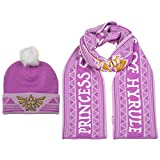 Zelda Twilight Princess Winter Hat and Scarf Combo Pink