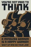 Poster Futurama You'Re Not Paid to Think (61cm x 91,5cm) + 1 Pster con Motivo de Paraiso Playero