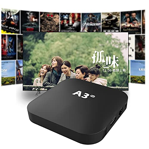 Abox3Pro 中文Set-Top Box 华语机顶盒 Iptv Chinese A3升级版 Hongkong/China/Taiwan 电视剧电影免费更新 No Buffering&Lagging