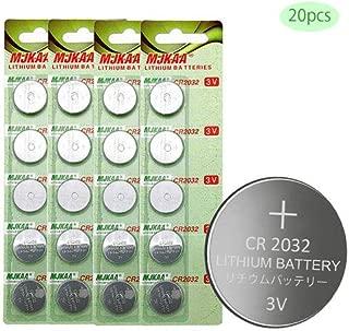 MJKAA 2032 Battery CR2032 3V Lithium Coin Cell Battery Type : CR2032 / DL2032 / ECR2032 Genuine High Energy (pack-20)