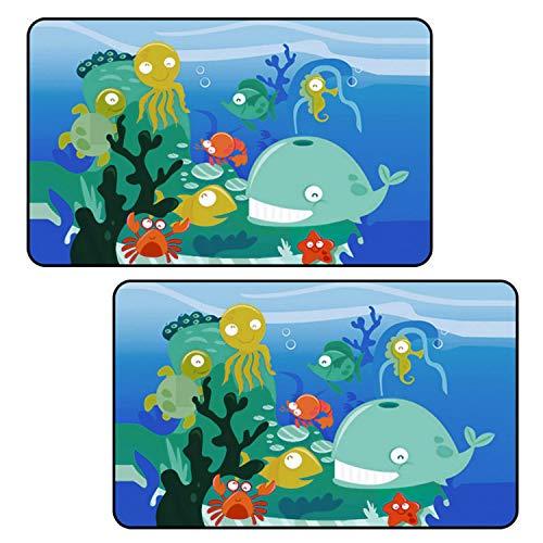 Vococal 2pcs Universal Car Magnetic Sun Shades Fenêtre latérale Rideaux de Dessins animés Seat de Voiture Protection Solaire Pare-Soleil pour bébé Enfants Enfants